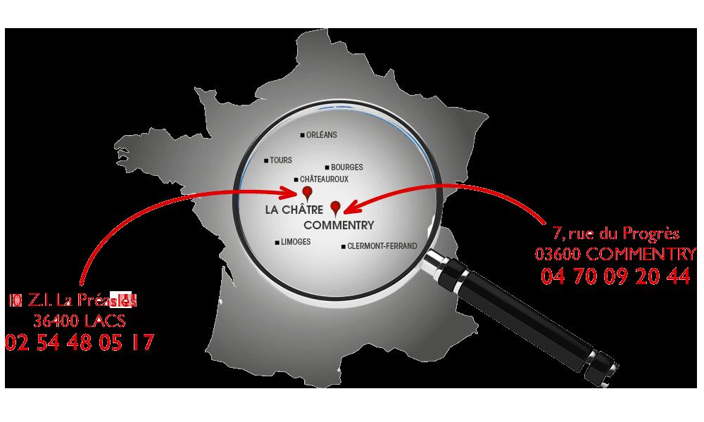 SARL P.Ducrot - à La Châtre et à Commentry